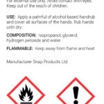 Biofree Safety Label WHO Formulated 125ml